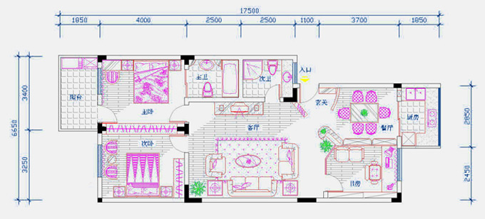 cad 家装平面图主要绘制分析:;         cad   家装平面图主要绘制