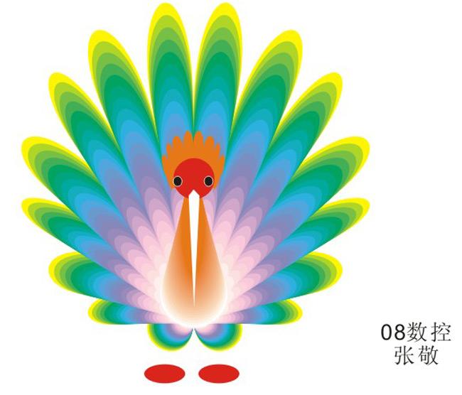 矢量手绘之孔雀
